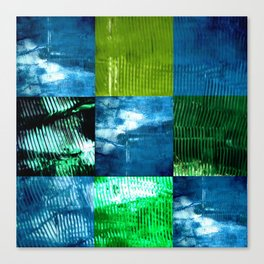 Blue green square Canvas Print