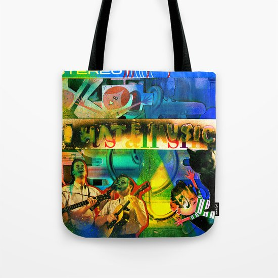 """I Hate Music"" by Cap Blackard Tote Bag"