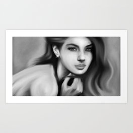 Black and White Woman Art Print
