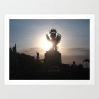 indonesia Art Prints featuring Garuda Indonesia by Pri-Prianna