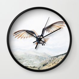 Pencil Owl Wall Clock