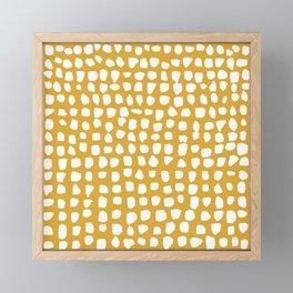 Dots / Mustard Framed Mini Art Print