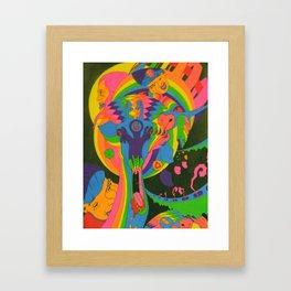 This Here Giraffe Framed Art Print