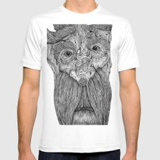 Tree Person Mens Fitted Tee White MEDIUM