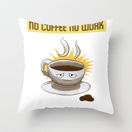Coffee Drinkers Throw Pillow