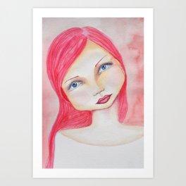 Bella SASS Girl - Rose - SASS = Strong and Super Smart Art Print