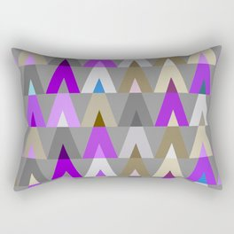 Deer Head Geometric Triangles | purple grey Rectangular Pillow