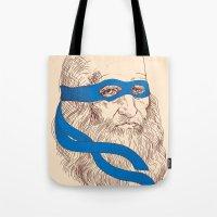 leonardo Tote Bags featuring Leonardo by Fresco Umbiatore