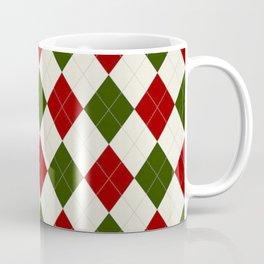 Christmas Argyle Pattern Coffee Mug
