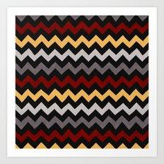 Colorful Chevron 3 Art Print