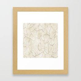 Abstract elegant brown ivory modern trendy marble Framed Art Print