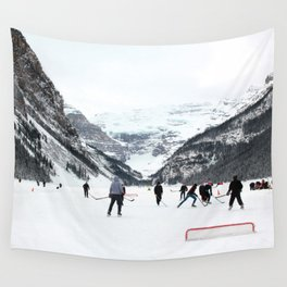 Winter in Lake Louise Wall Tapestry