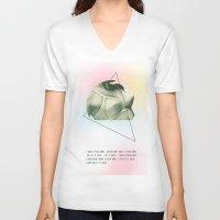 jack daniels V-neck T-shirts featuring Jack by Lauren Miller