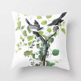 Loggerhead Shrike - John James Audubon Throw Pillow
