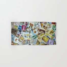 Postage Stamp Collection Hand & Bath Towel