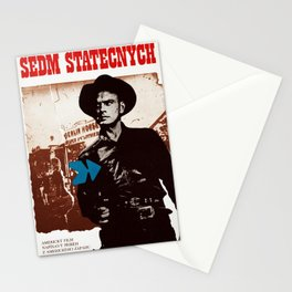 Vintage Czechoslovakian 1976 Poster - The Magnificent Seven Stationery Cards