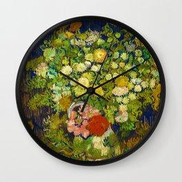 Vincent van Gogh Irises Floral Purple Green Wall Clock