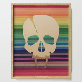 Rainbow Skull Serving Tray