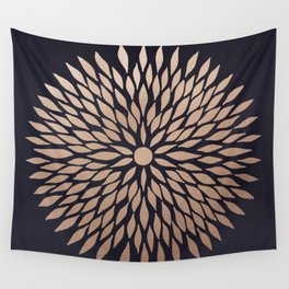 Rose Gold Flower Wall Tapestry