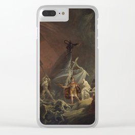 Aeneas and the Sibyl Clear iPhone Case