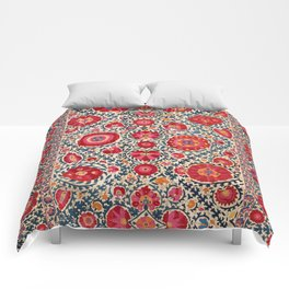 Kermina Suzani Uzbekistan Embroidery Print Comforters