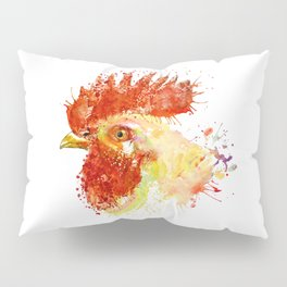 Rooster Head Pillow Sham