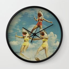 On Evil Beach - Sharks Wall Clock
