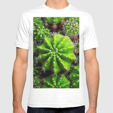 cactuses Mens Fitted Tee MEDIUM White