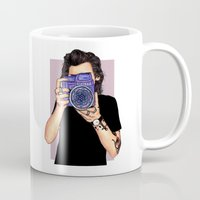 harry styles Mugs featuring Styles by sparklysky