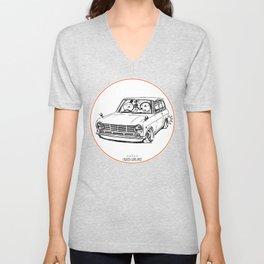 Crazy Car Art 0198 Unisex V-Neck