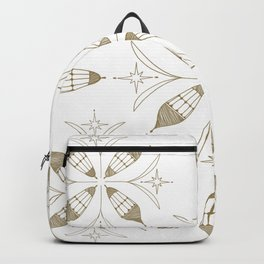 Lanterns of Morocco metallic gold Backpack