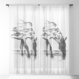 Southern Horse Wild Life Sheer Curtain