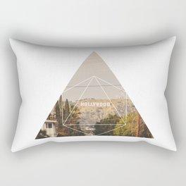 Hollywood Sign - Geometric Photography Rectangular Pillow