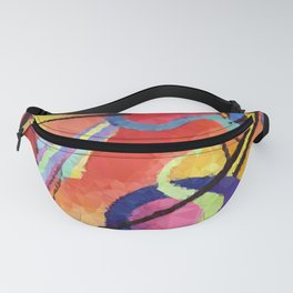 Modern Abstract Low Poly Geometric Triangles After Kandinsky Fanny Pack
