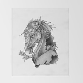 The King's Lost Knight Throw Blanket