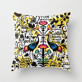 Wycinanki Folk Art Throw Pillow