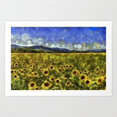 Sunflower Dreams Van Gogh Art Print