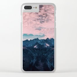 Pastel mountain mood Clear iPhone Case