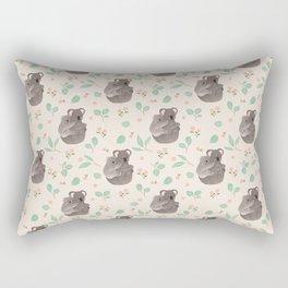 Koala and Eucalyptus Pattern Rectangular Pillow