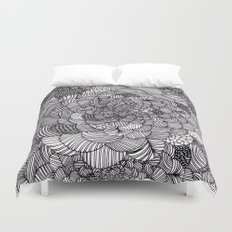 Ink flowers Duvet Cover