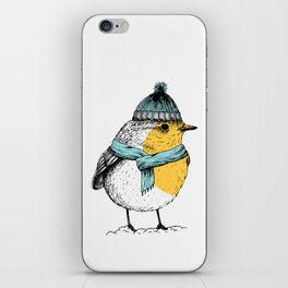 Winter bird iPhone Skin
