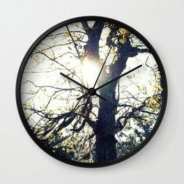 Golden Moss Wall Clock
