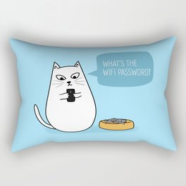 Wifi Cat Rectangular Pillow