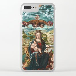 Virgin and Child with the Infant Saint John Clear iPhone Case