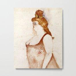 Henri de Toulouse-Lautrec - Mademoiselle Cocyte in La Belle Hélène Metal Print