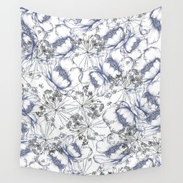 line work floral Wall Tapestry