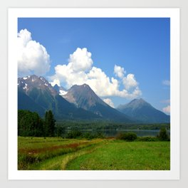 Kathlyn Lake and Hudson Bay Mountain Art Print