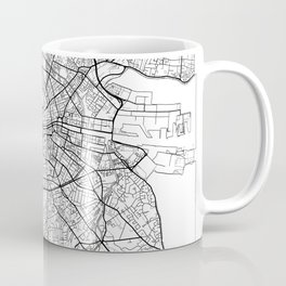 Dublin Map White Coffee Mug