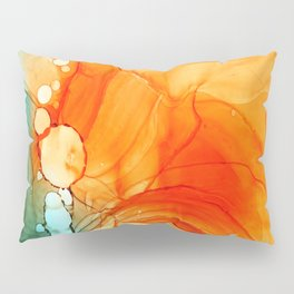 ORANGE AND BLUE ABSTRACT INKSCAPE Pillow Sham