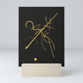 Kandinsky - Black and Gold Mini Art Print